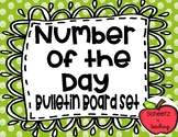 Number of the Day Bulletin Board Set - Polka Dots