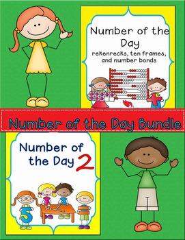 Number of the Day Bundle- Rekenreks, Number Bonds, and Pla