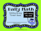 Number of the Day ~ Calendar ~ Daily Math Routine to Stren