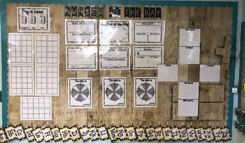 Number of the Day Calendar Time Number Sense Activity Bulletin Board Set