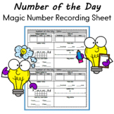 Number of the Day Calendar or Magic Number Recording Sheet