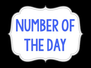 Number of the Day Cards