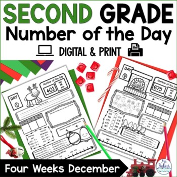 Holiday Math Place Value Second Grade Number of the Day