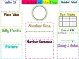 Number of the Day Chart Poster Morning Math
