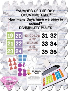 Number of the Day Counting Tape and Divisibility Rules