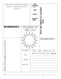Number of the Day- Daily Math Worksheet 3rd-8th Grade
