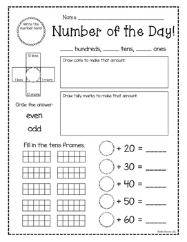 Number of the Day: Daily Number Sense Activity