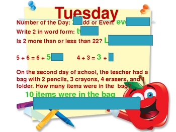 Number of the Day~ Days 1-5