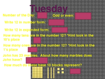 Number of the Day~ Days 11-15