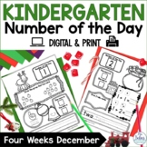 Holiday Math Number of the Day Kindergarten Number Sense