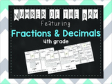 Number of the Day- Decimals & Fractions ( 4th grade)