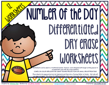 Number of the Day Differentiated Dry Erase Worksheets