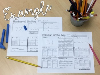 Number of the Day! Differentiated Number Sense Sheets