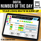 Number of the Day   Digital Activities for 100 - 1000   Di
