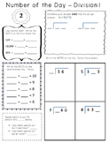 Number of the Day - Division - One Digit Divisor BUNDLE!