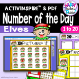 Number of the Day *Elf* Interactive Promethean Board Flipchart Printables