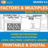 Factors and Multiples - Number of the Day
