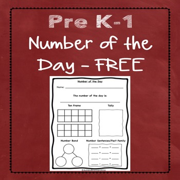 Number of the Day FREE - Pre-K, Kindergarten, 1st