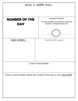 Number of the Day FREEBIE Upper Grades