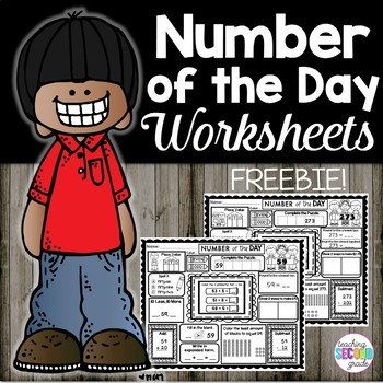 Number of the Day 2nd Grade | Number of the Day Worksheets | Free