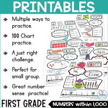 Place Value Worksheets Math First Grade Place Value Number of the Day