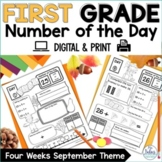 Number of the Day Place Value Worksheets | First Grade Mat