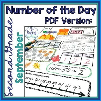 Place Value Worksheets Second Grade Math Fall Number of the Day