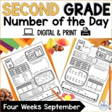 Digital Google Slides™ Number of the Day Second Grade Sept