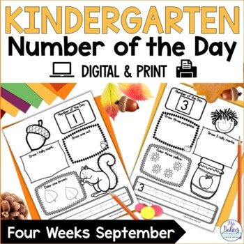 Number of the Day {Fall} Kindergarten Math
