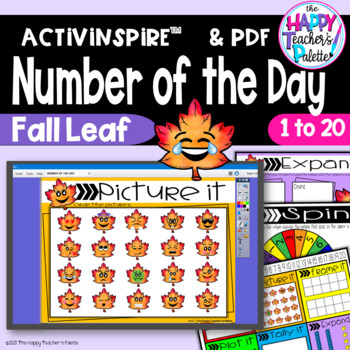 Number of the Day *Fall Leaf*Interactive Promethean Board Flipchart & Printables
