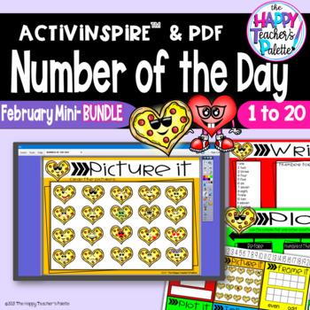 Number of the Day *February BUNDLE*  Promethean Board Flipchart and Printables