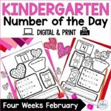 Number Sense Google Slides™ Number of the Day Kindergarten