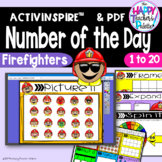 Number of the Day*Firefighter* Interactive Promethean Board Flipchart Printables