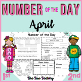 Number of the Day, First Grade Math TEKS ~April~ NO PREP, JUST PRINT