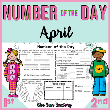 Number of the Day, First Grade Math TEKS ~April~ NO PREP,