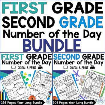 Number of the Day {First and Second Grade Bundle} Both Gra