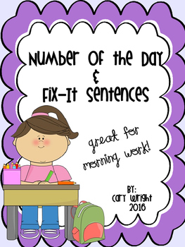 FREEBIE - Number of the Day/Fix-It Sentences