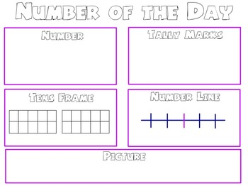 Number of the Day Flipchart