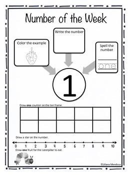 Number of the Week Focus Sheets 1 - 5