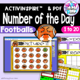 Number of the Day *Footballs* Interactive Promethean Board Flipchart Printables
