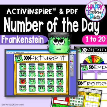 Number of the Day*Frankenstein*Interactive Promethean Board Flipchart *Printable