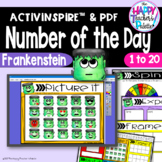 Number of the Day*Frankenstein*Interactive Promethean Board Flipchart *Printable