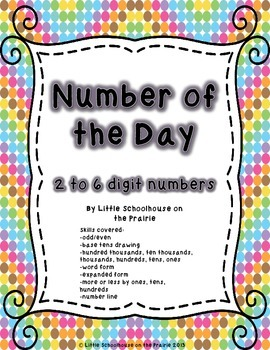Number of the Day - Freebie!  2 to 6 Digit Numbers
