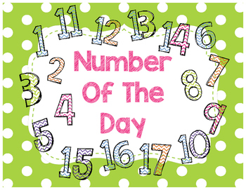 Number of the Day (Freebie, K-2)