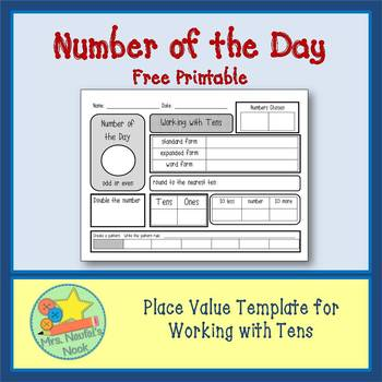 Number of the Day Freebie - Tens