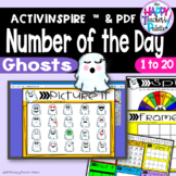 Number of the Day *Ghosts* Interactive Promethean Board Flipchart Printables
