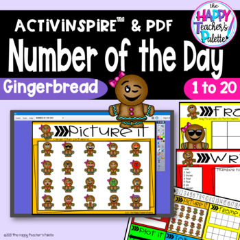 Number of the Day *Gingerbread*Interactive Promethean Board Flipchart Printables