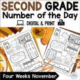 Number Sense Morning Work Grade Math Place Value Number of the Day November