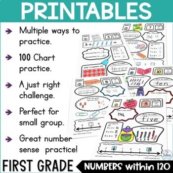Morning Work Place Value Worksheets First Grade Math Number of the Day