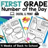 Back to School Number Of The Day Worksheets   Number Sense